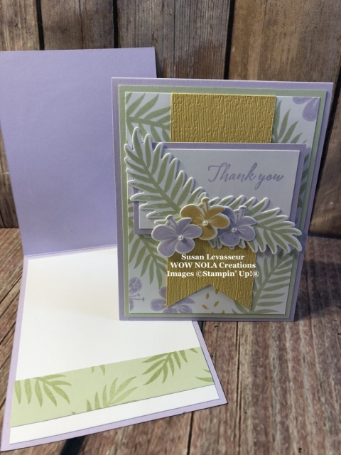 Susan Levasseur, WOW NOLA Creations, Tropical Chic Meets Purple Posy, Stampin' Up!