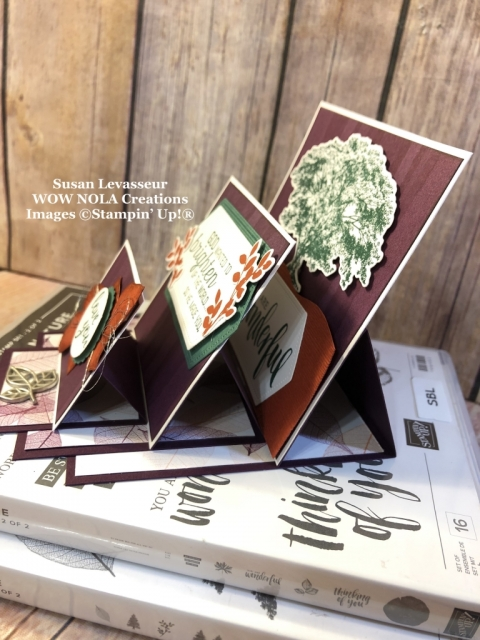 Susan Levasseur, WOW NOLA Creations, Triple Easel Fold Card, Rooted in Nature