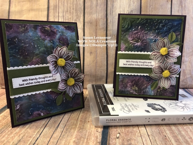 Susan Levasseur, WOW NOLA Creations, Floral Essence Bundle Sneak Peek, Stampin' Up!