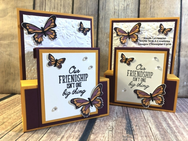 Susan Levasseur, WOW NOLA Creations, Fold Flat Fancy Fold, Butterfly Gala, Stampin' Up!
