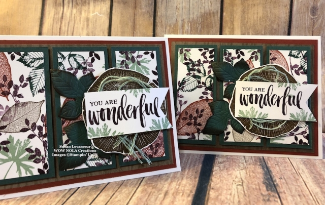 Susan Levasseur, WOW NOLA Creations, Rooted in Nature, Stampin' Up!
