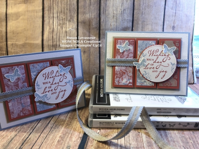 Susan Levasseur, WOW NOLA Creations, Woven Heirlooms, Stampin' Up!