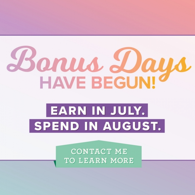 Stampin' Up! Bonus Days Promotion 2019