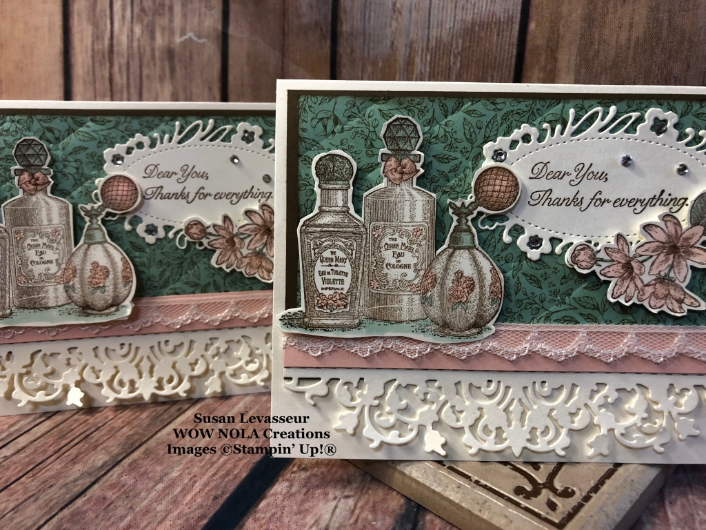 Fanciful Fragrance Vintage Thank You Card