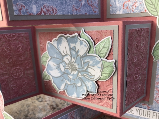 Tri-fold Shutter Card featuring To A Wild Rose Bundle, Stampin' Up!