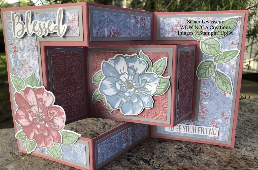 Tri-Fold Shutter Card with To A Wild Rose