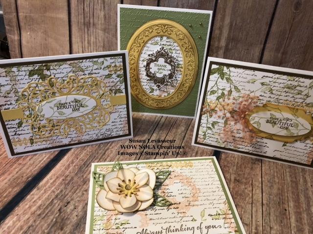 Very Versailles, One Sheet Wonder, Susan Levasseur, WOW NOLA Creations, Stampin' Up!