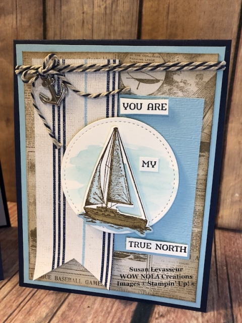 Sailing Home, Susan Levasseus, WOW NOLA Creations, Stamin' Up!