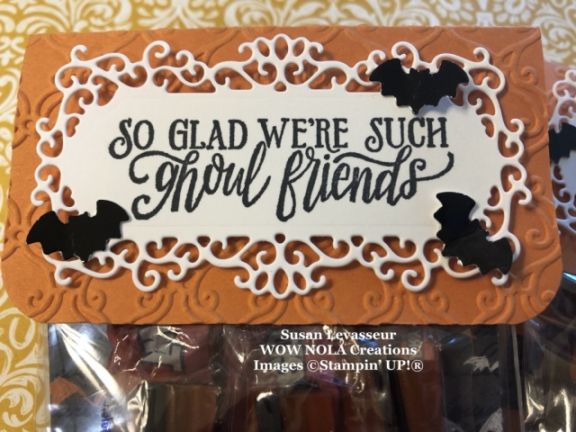 Spooktacular Halloween Treats, Susan Levasseur, WOW NOLA Creations, Stampin' Up!