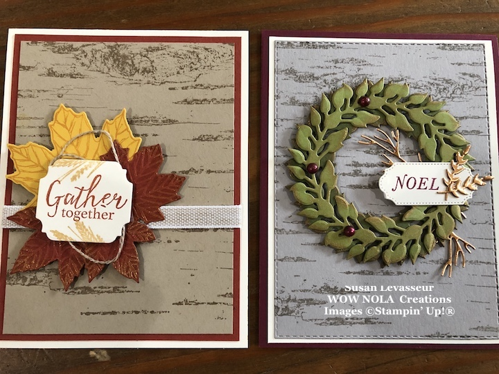 Birch Background, Susan Levasseur, WOW NOLA Creations, Stampin' Up!