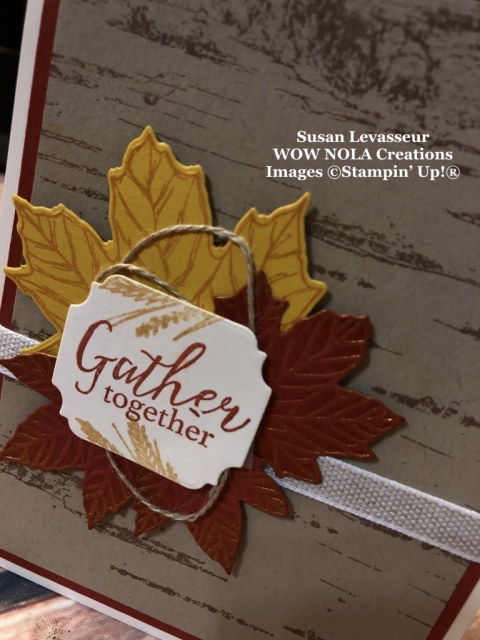Birch Background, Gather Together, Susan Levasseur, WOW NOLA Creations, Stampin' Up!