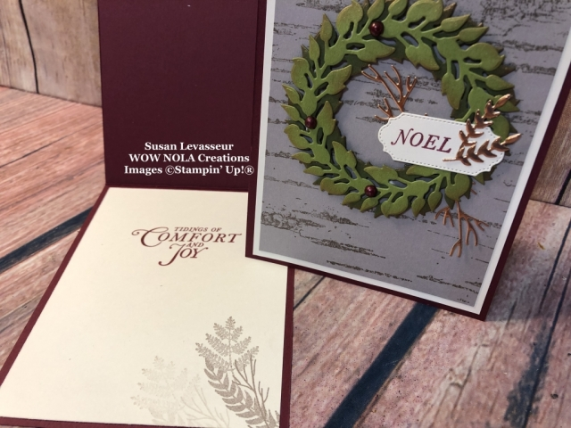 Birch Background, Tidings All Around, Susan Levasseur, WOW NOLA Creations, Stampin' Up!