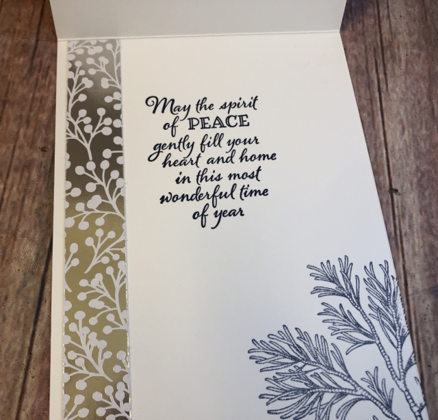 Peaceful Boughs, Susan Levasseur, WOW NOLA Creations, Stampin' Up!