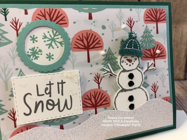 Snowman Season, Viewfinder Card, Susan Levasseur, WOW NOLA Creations, Stampin' Up!