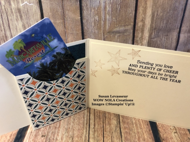 Holiday Gift Card Holder, Susan Levasseur, WOW NOLA Creations, Stampin' Up!