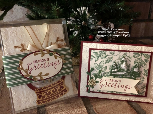 Snow Globe Christmas Ornament Gift Set, Susan Levasseur, WOW NOLA Creations, Stampin' Up!
