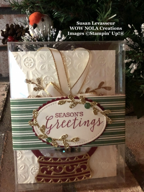 Snow Globe Christmas Ornament, Susan Levasseur, WOW NOLA Creations, Stampin' Up!