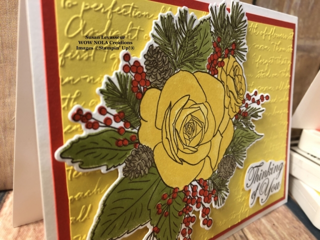 Christmas Rose, Susan Levasseur, WOW NOLA Creations, Stampin' Up!