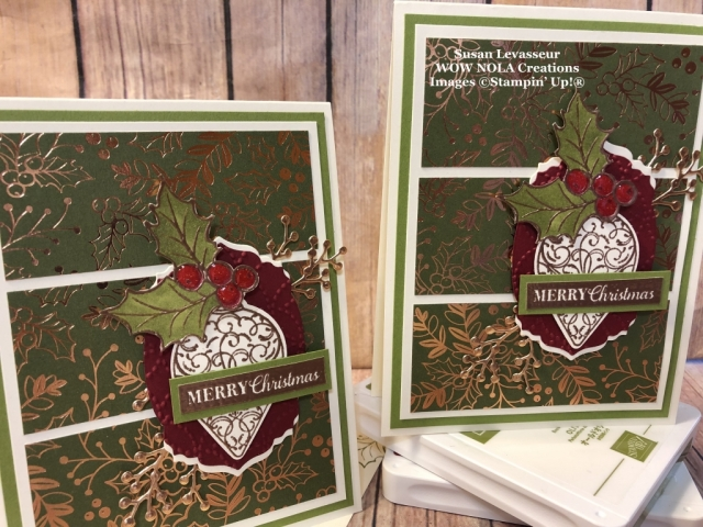 Christmas Gleaming, WOW Card Sketch #1, Susan Levasseur, WOW NOLA Creations, Stampin' Up!