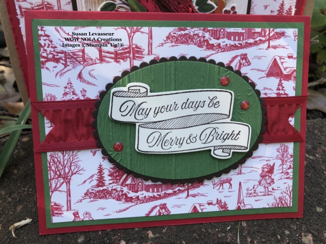 Toile Tidings Christmas Card, Susan Levasseur, WOW NOLA Creations, Stampin' Up!