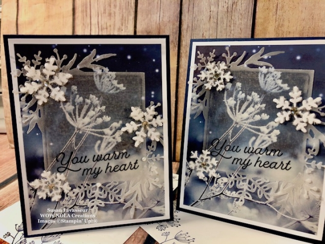 Frosted Foliage Technique Card, Susan Levasseur, WOW NOLA Creations, Stamin' Up!