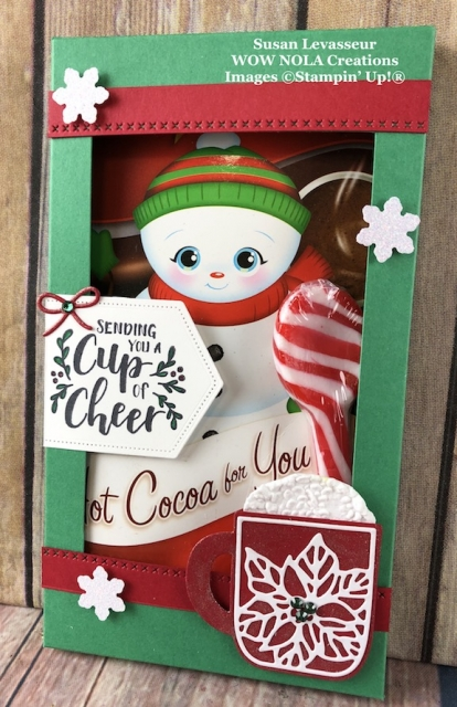 Cup of Christmas Hot Cocoa Holder, Susan Levasseur, WOW NOLA Creations, Stampin' Up!