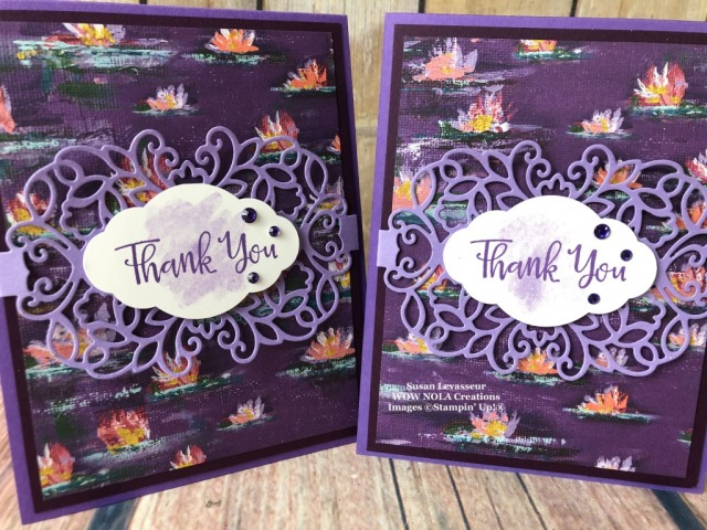 Lily Impressions Thank You, Susan Levasseur, WOW NOLA Creations, Stampin' Up!
