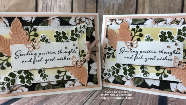 Positive Thoughts, Susan Levasseur, WOW NOLA Creations, Stampin' Up!