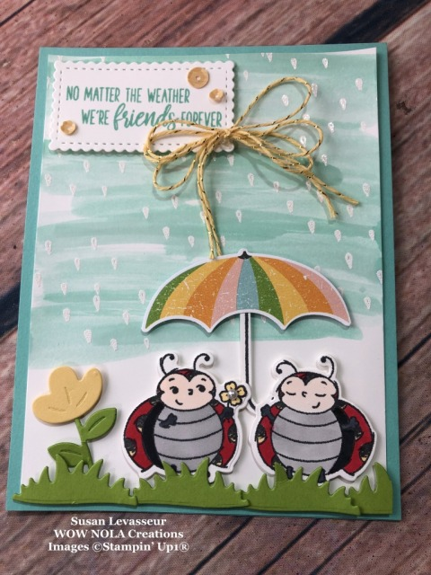 Under My Umbrella, Susan Levasseur, WOW NOLA Creations, Stampin' Up!