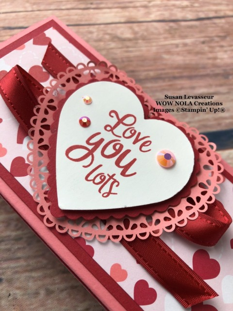 Little Debbie Slider Valentine Treat Box, Susan Levasseur, WOW NOLA Creations, Stampin' Up!