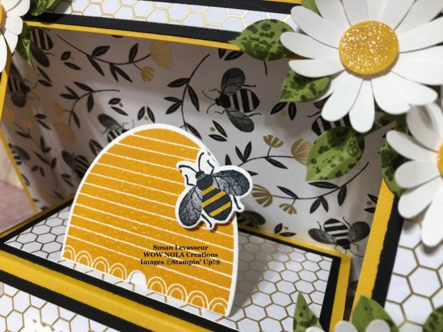 Honey Bee Scene Stepper, Susan Levasseur, WOW NOLA Creations, Stampin' Up!