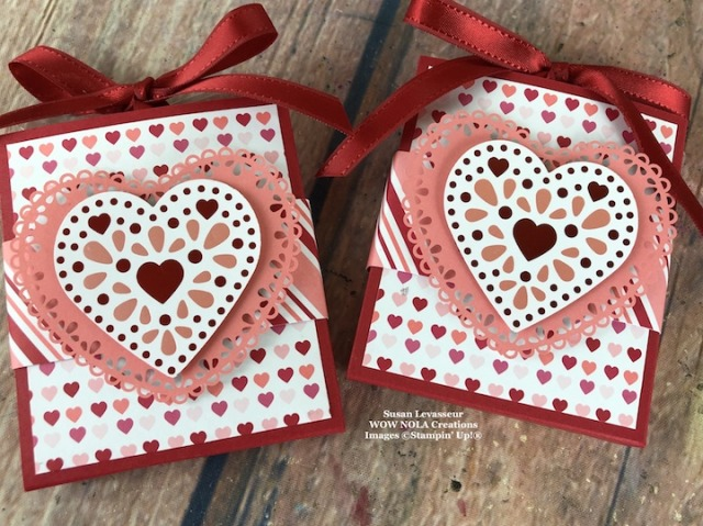 Valentine Slider Treat Box, Susan Levasseur, WOW NOLA Creations,  Stampin' Up