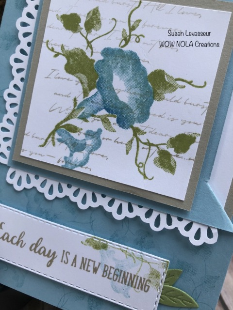 Morning Star Corner Flip Fold, Susan Levasseur, WOW NOLA Creations, Stampin' Up!