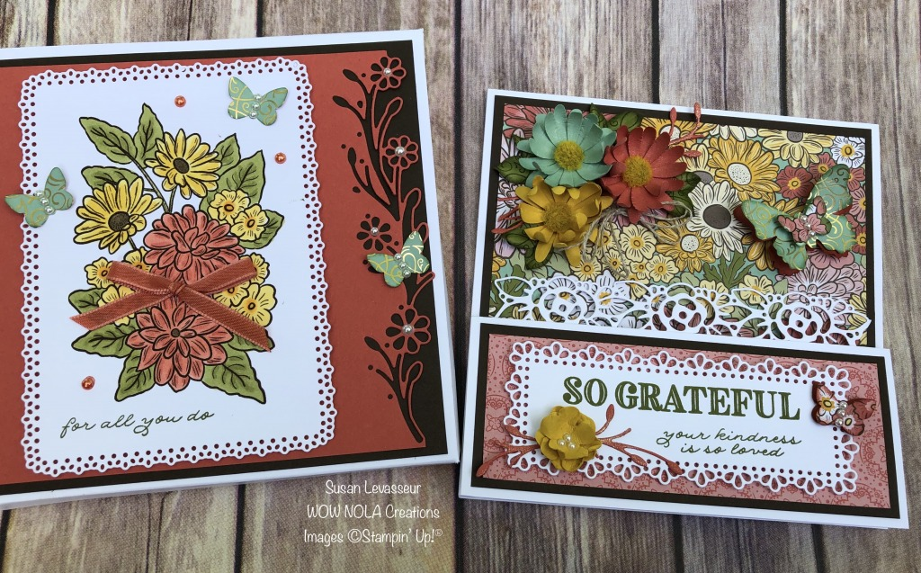 Vintage Step Card Ornate Garden Suite