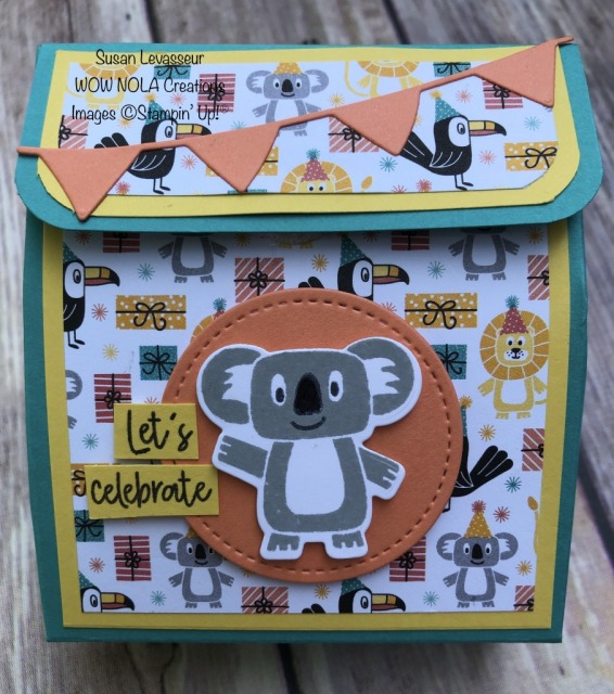 Bonanza Buddies Treat Box, Susan Levasseur, WOW NOLA Creations, Stampin' Up!