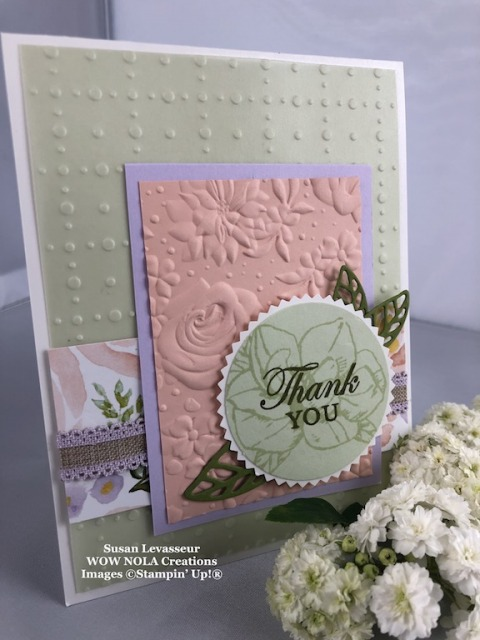 So Very Vellum, Susan Levasseur, WOW NOLA Creations, Stampin' Up!