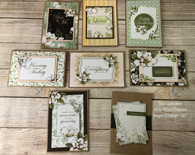 Magnolia Lane Memories & More Cards, Susan Levasseur, WOW NOLA Creations, Susan Levasseur, Stampin' UP!