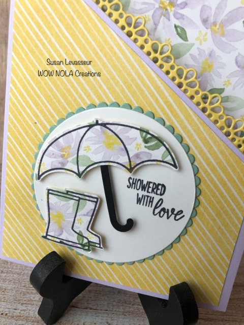 Under My Umbrella Fancy Fold, Susan Levasseur, WOW NOLA Creations, Stampin' Up!