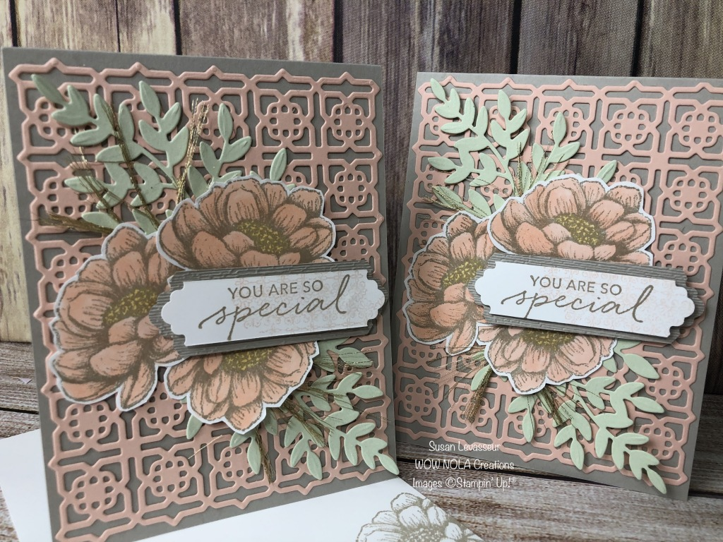 Vintage Styled Tasteful Touches, Susan Levasseur, WOW NOLA Creations, Stampin' Up!