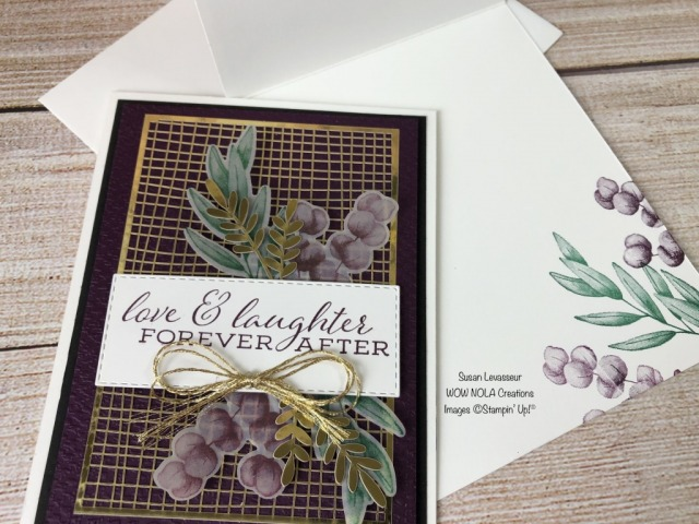 Forever Greenery Suite Card #3, Susan Levasseur, WOW NOLA Creations, Stampin' Up!