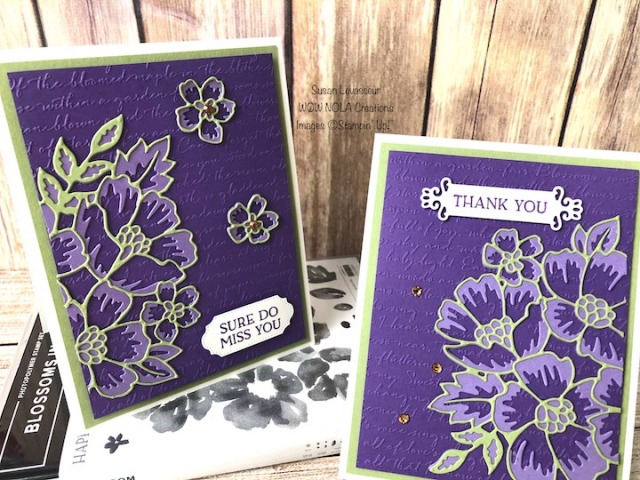 Divided Die-Cut, Blossoms in Bloom, Susan Levasseur, WOW NOLA Creations, Stampin' Up!