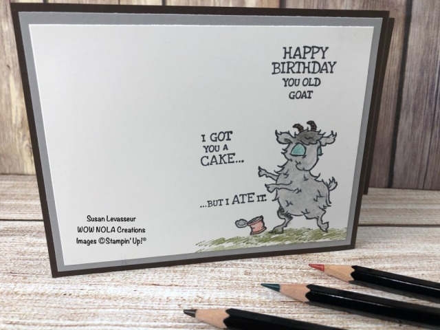 Way to Goat Z Fold, Susan Levasseur, WOW NOLA Creations, Stampin' Up!