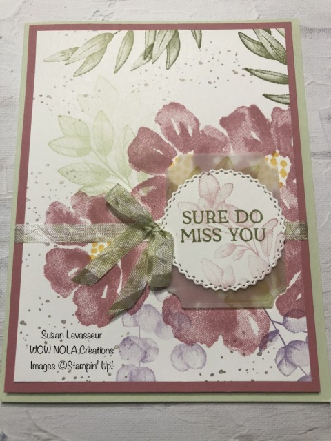 Blossoms One Sheet Wonder, Susan Levasseur, WOW NOLA Creations, Stampin' Up!