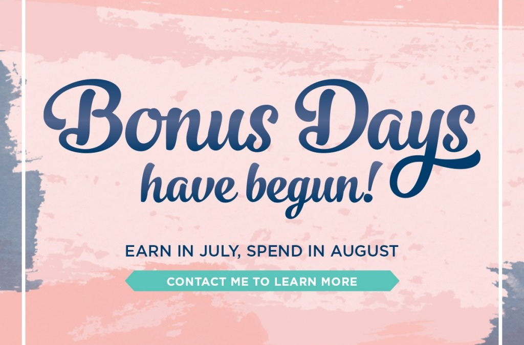 It's Back Bonus Days Are Here