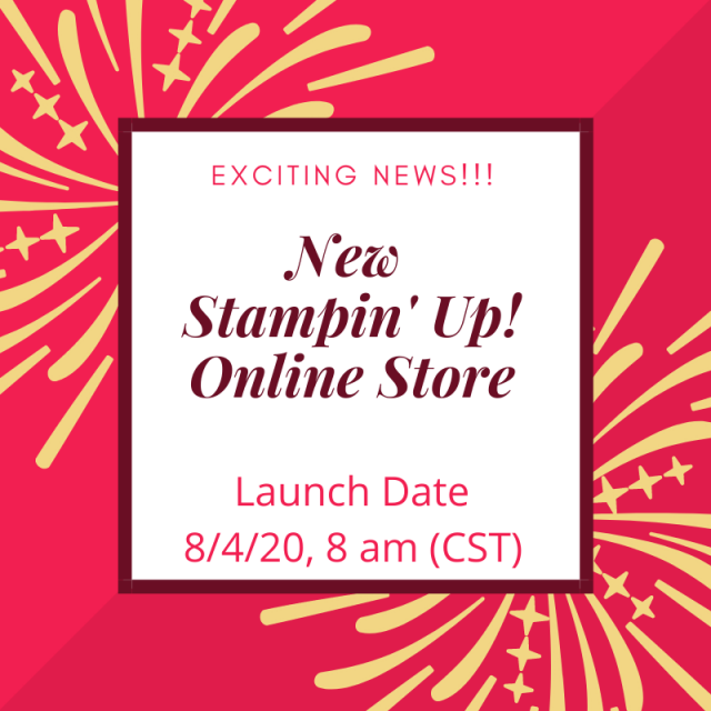 Exciting News, New Stampin' Up! Online Store, Susan Levasseur, WOW NOLA Creations, Stampin' Up!