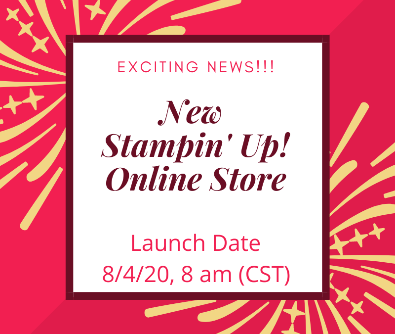 Exciting News! Stampin' Up! Online Store